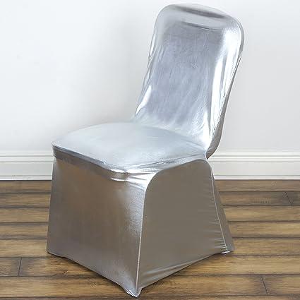 Amazing Amazon Com Balsacircle 10 Pcs Silver Metallic Banquet Lame Beatyapartments Chair Design Images Beatyapartmentscom