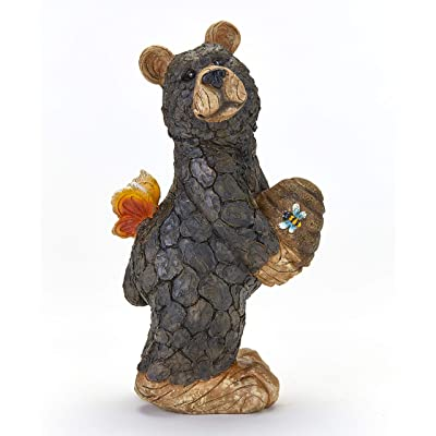 The Lakeside Collection Bear Garden Statue - Cute Figurine for Yards, Porches : Garden & Outdoor