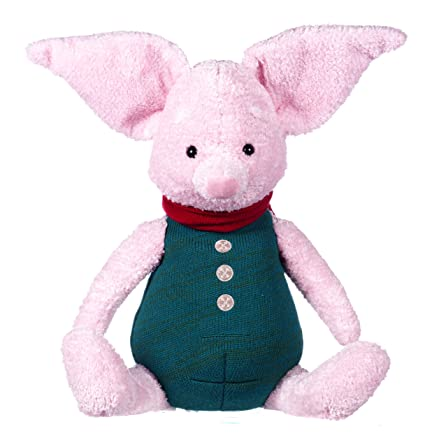 Posh Paws 37491 Disney Christopher Robin Large Winnie the Pooh Piglet Soft Toy