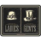 Original RAHMENLOS® Targa in metallo: bagni di uomini–Donne–Ladies Gents