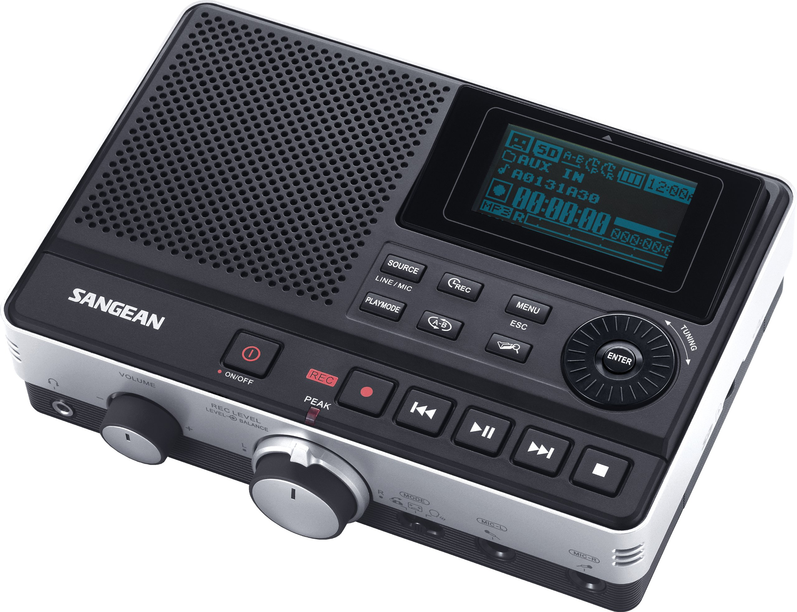 Sangean DAR-101 Professional Grade Digital MP3 Recorder (Black)