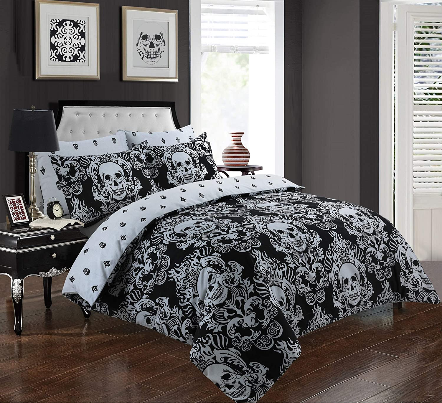 100/% Poly Cotton Duvet Cover Set /& Pillowcases Bedding All Bed UK Size