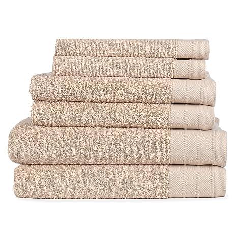 SweetNeedle - Juego de toallas de 8 piezas ecológicas, Lino - 2 baños 68x137 CM