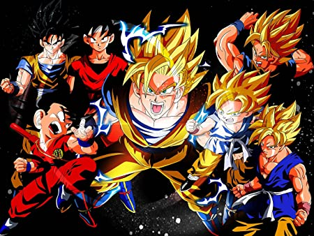 Dragon Ball Z Son Goku Vegeta SSJ A2 Poster Wall Banner Gifts T Shirt Manga