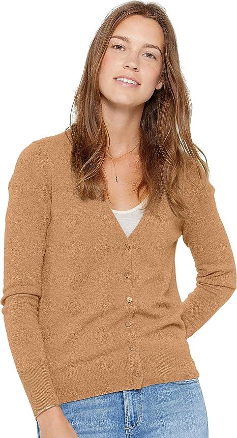 State Cashmere Donna 100/% Puro Cashmere Cardigan Lungo Aperto