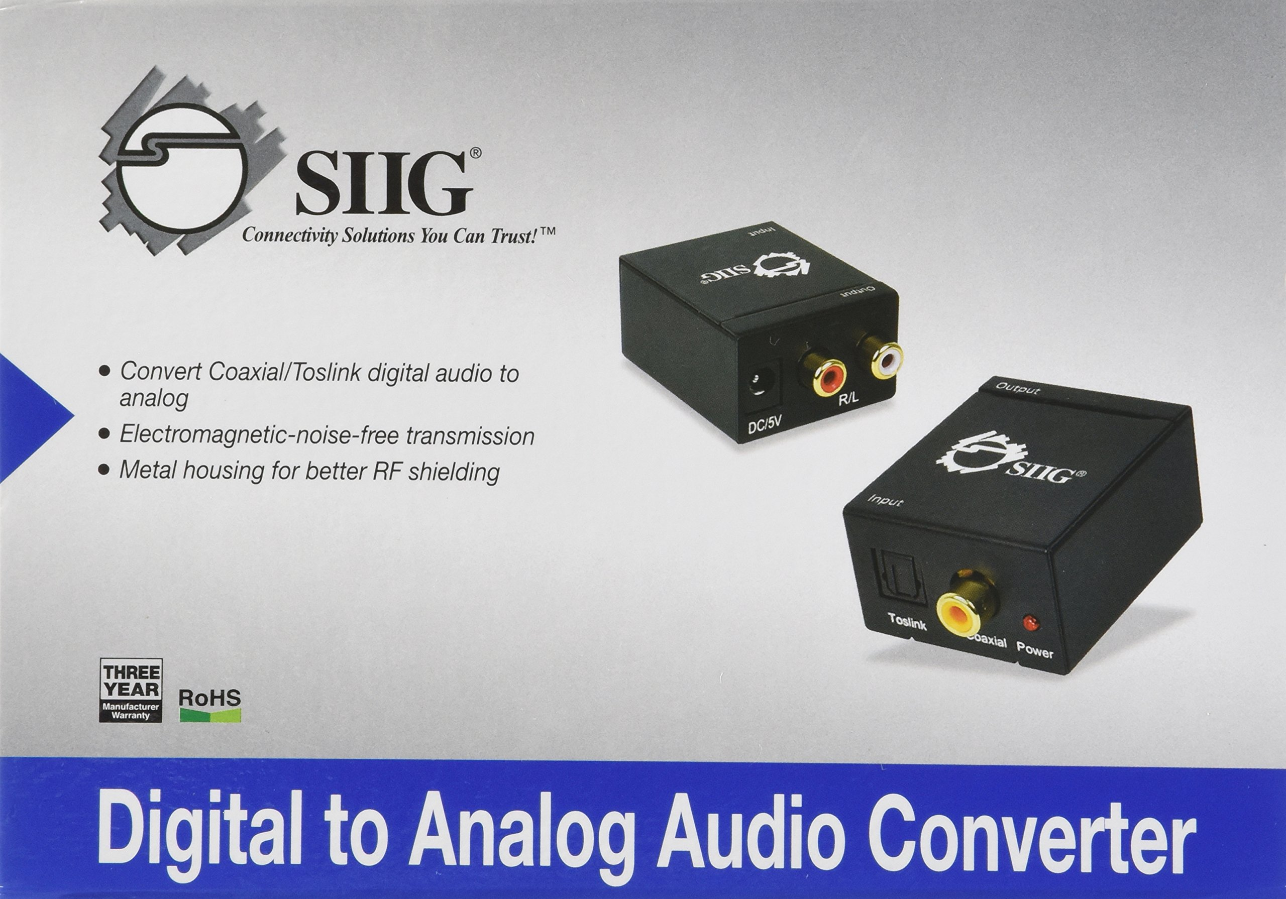 SIIG Digital to Analog Audio Converter (CE-CV0011-S1)