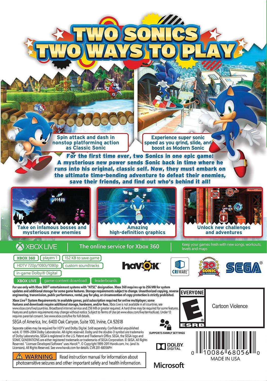 Amazon com: Sonic Generations (Platinum Hits) - Xbox 360