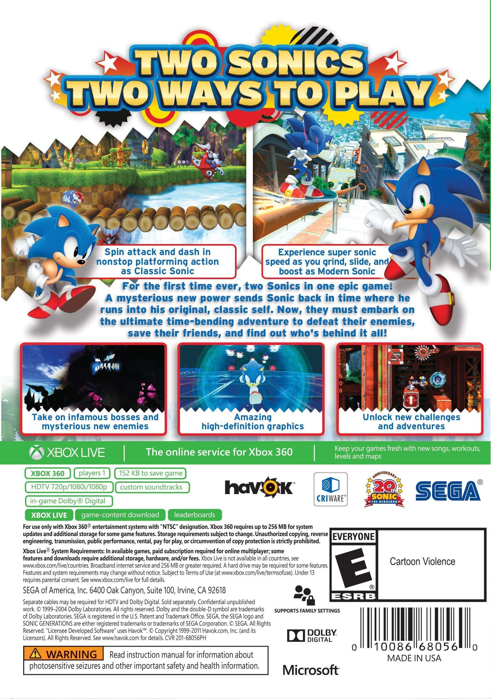 1af8597a44c Sonic Generations (Platinum Hits) - Xbox - TiendaMIA.com