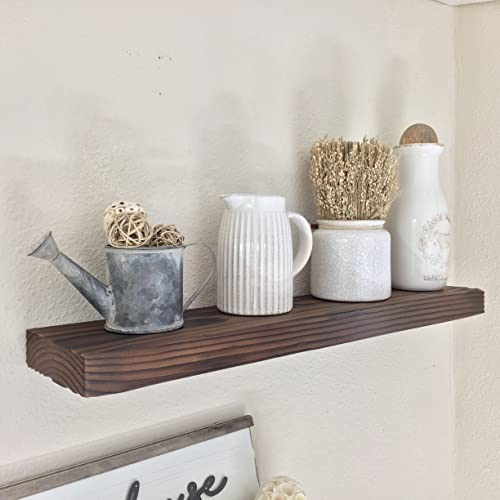 Short 2X6 Farmhouse Floating Shelf   Country Rustic Wall Shelves For Bedroom,  Bathroom, Kitchen