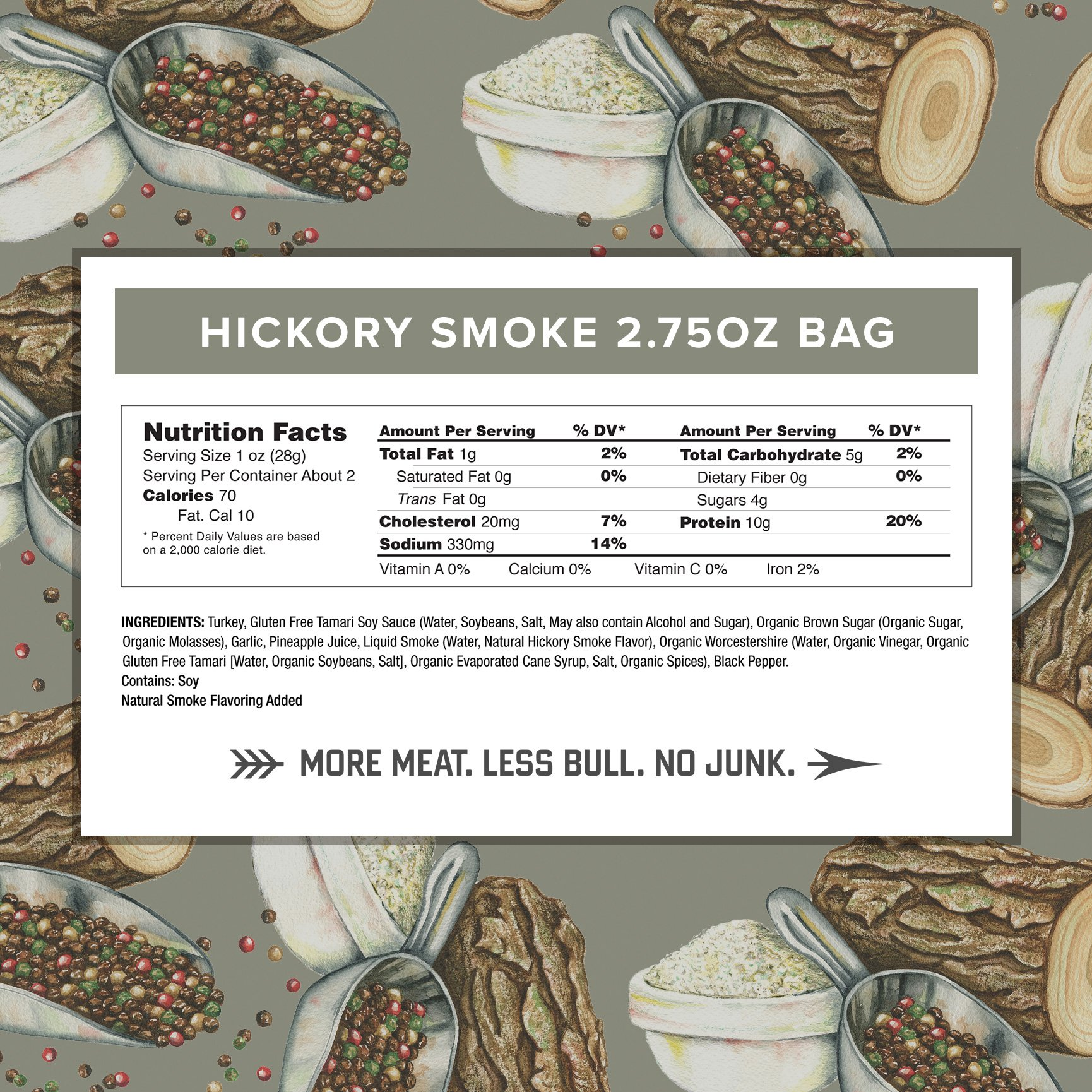 Hickory Smoke Turkey Jerky by Country Archer | Antibiotic Free | Gluten Free | 2.75 Ounce (Pack of 3) by Country Archer (Image #3)
