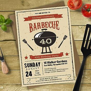 BBQ Birthday Party Invitations