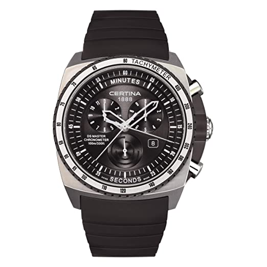Certina Certina DS Master C015.434.27.050.00 C015.434.27.050.00 - Reloj cronógrafo de Cuarzo para Hombre, Correa de Goma Color Negro: Amazon.es: Relojes