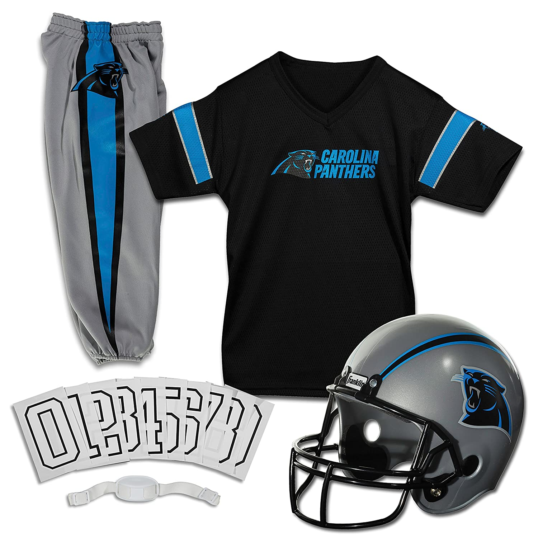 Franklin Sports NFL Boys Carolina Panthers NFL Team Licensed Deluxe Youth Uniform Set