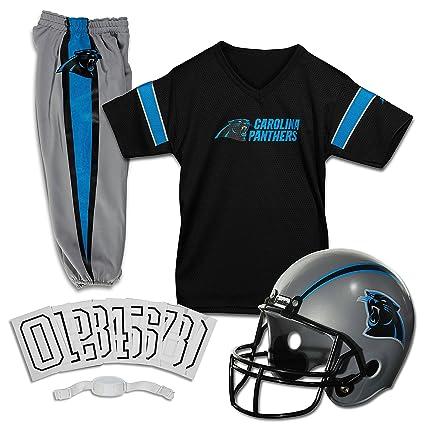 Franklin Sports NFL Carolina Panthers Deluxe Football Uniform Set- Small c773d1c8c