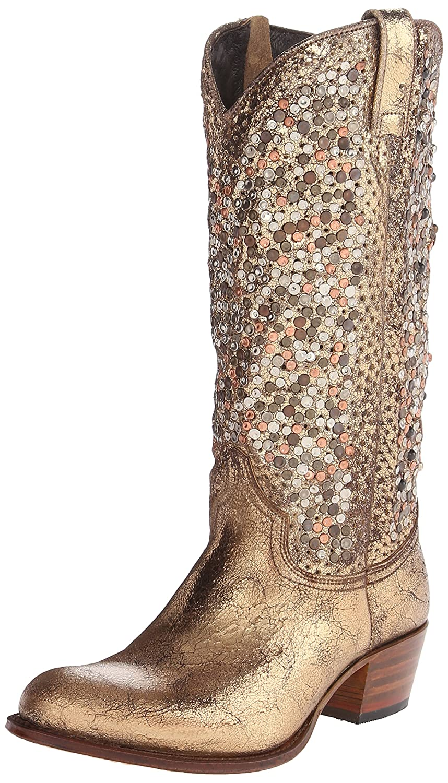 FRYE Women's Deborah Studded Tall Western Boot B00IM5IGE2 10 B(M) US|Gold-77860