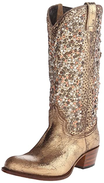 931ced88c39 Amazon.com | FRYE Women's Deborah Studded Tall Western Boot | Mid-Calf