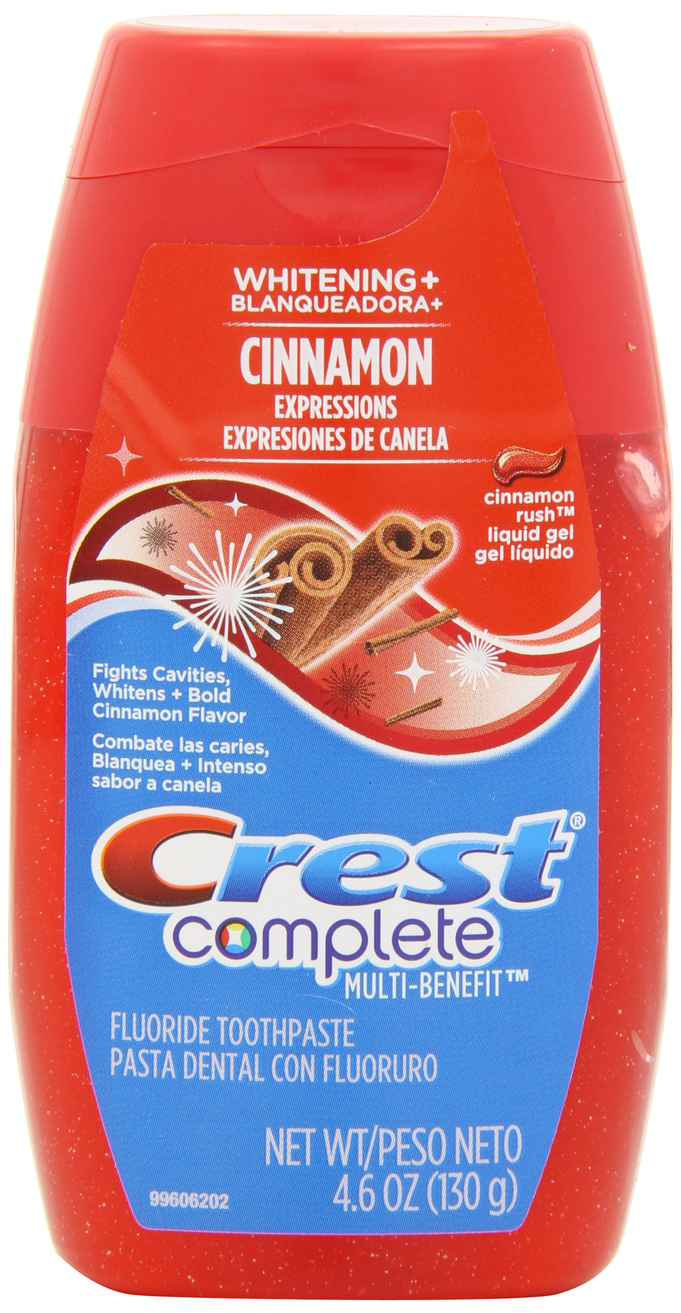 Crest Complete Multi-Benefit Whitening Plus Expressions Cinnamon Rush Liquid Gel Toothpaste 4.6 (Pack