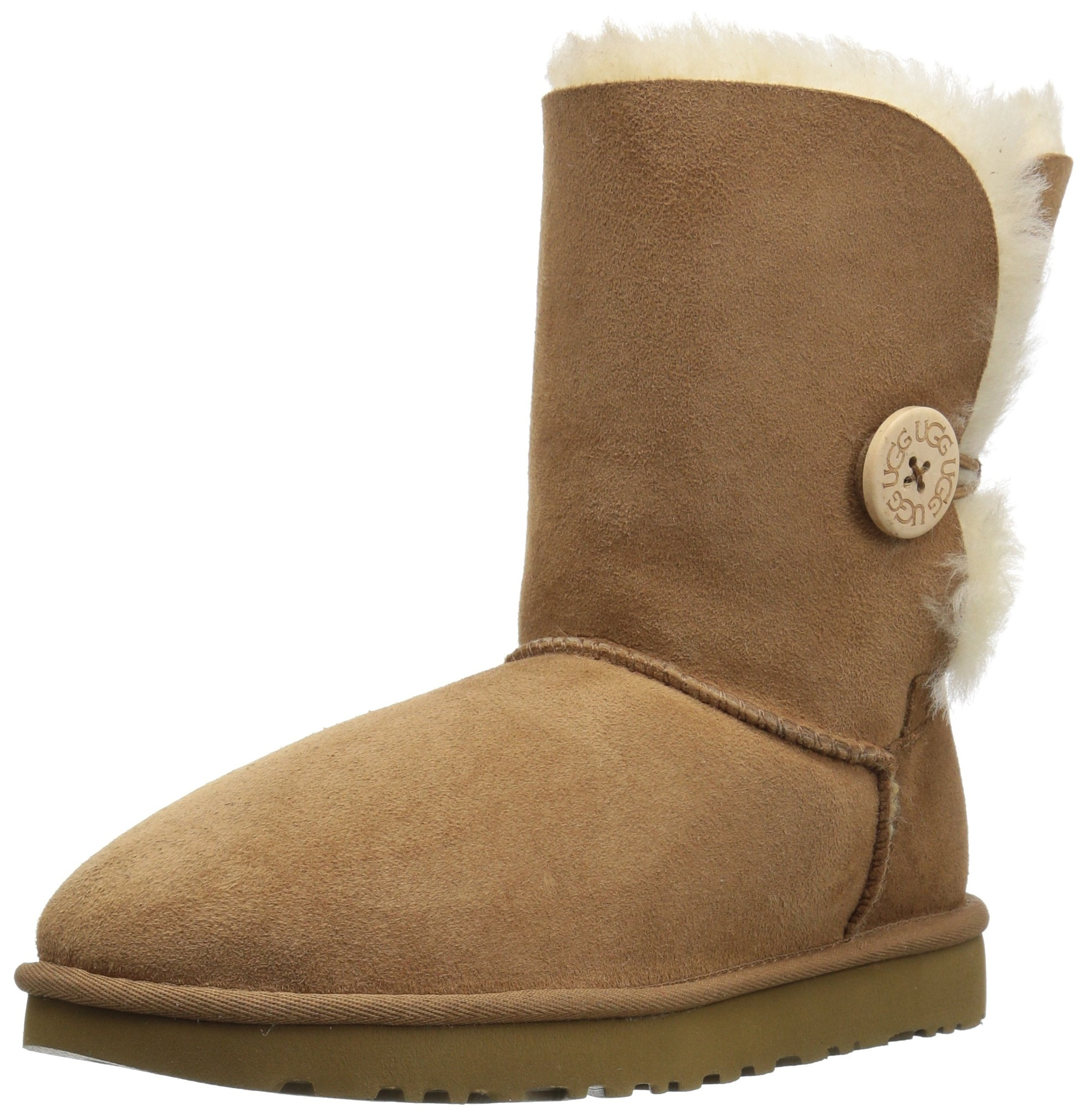 UGG Women's Bailey Button II Winter Boot, Chestnut, 5 B US