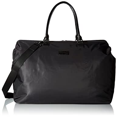 Amazon.com | Lipault Weekend Bag Large, Black | Carry-Ons