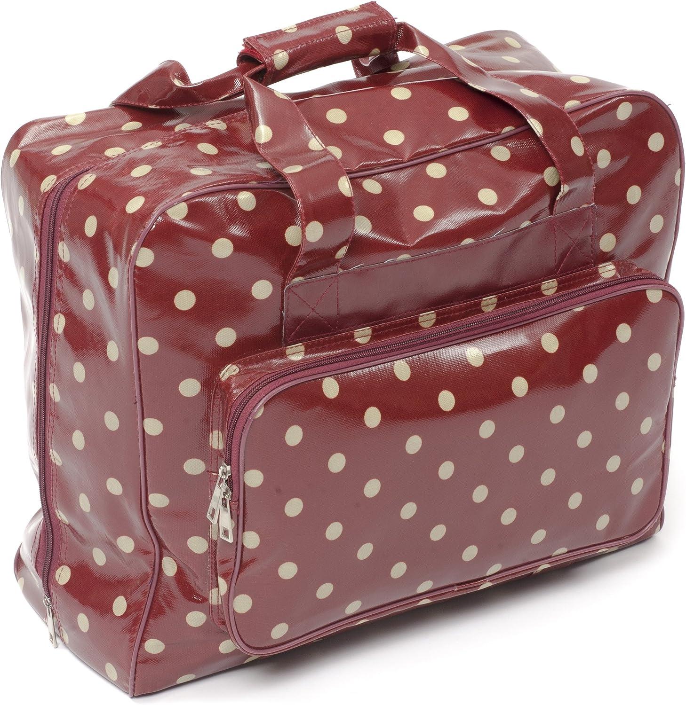 Hobby Gift Bolsa para máquina de Costura, Color Rojo con Lunares Blancos: Amazon.es: Hogar