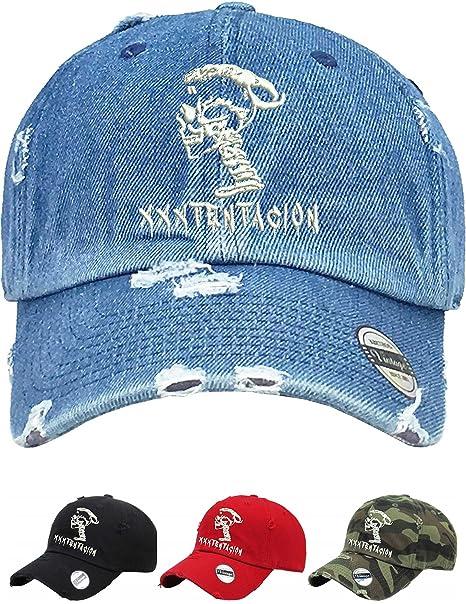f53d9c8374b Allntrends Adult Dad Hat Skull Xxxtentacion Embroidered Cap Cool Dad Hat  (White)