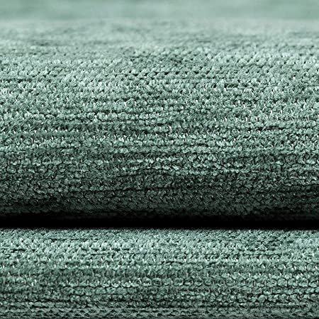 10 Metre Of Soft Plain Chenille Woven Jacquard Textured Upholstery Fabric Silver