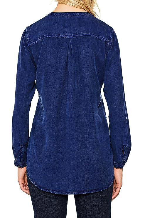 Esprit 107ee1f014, Blusa para Mujer, Azul (Navy 400), 34