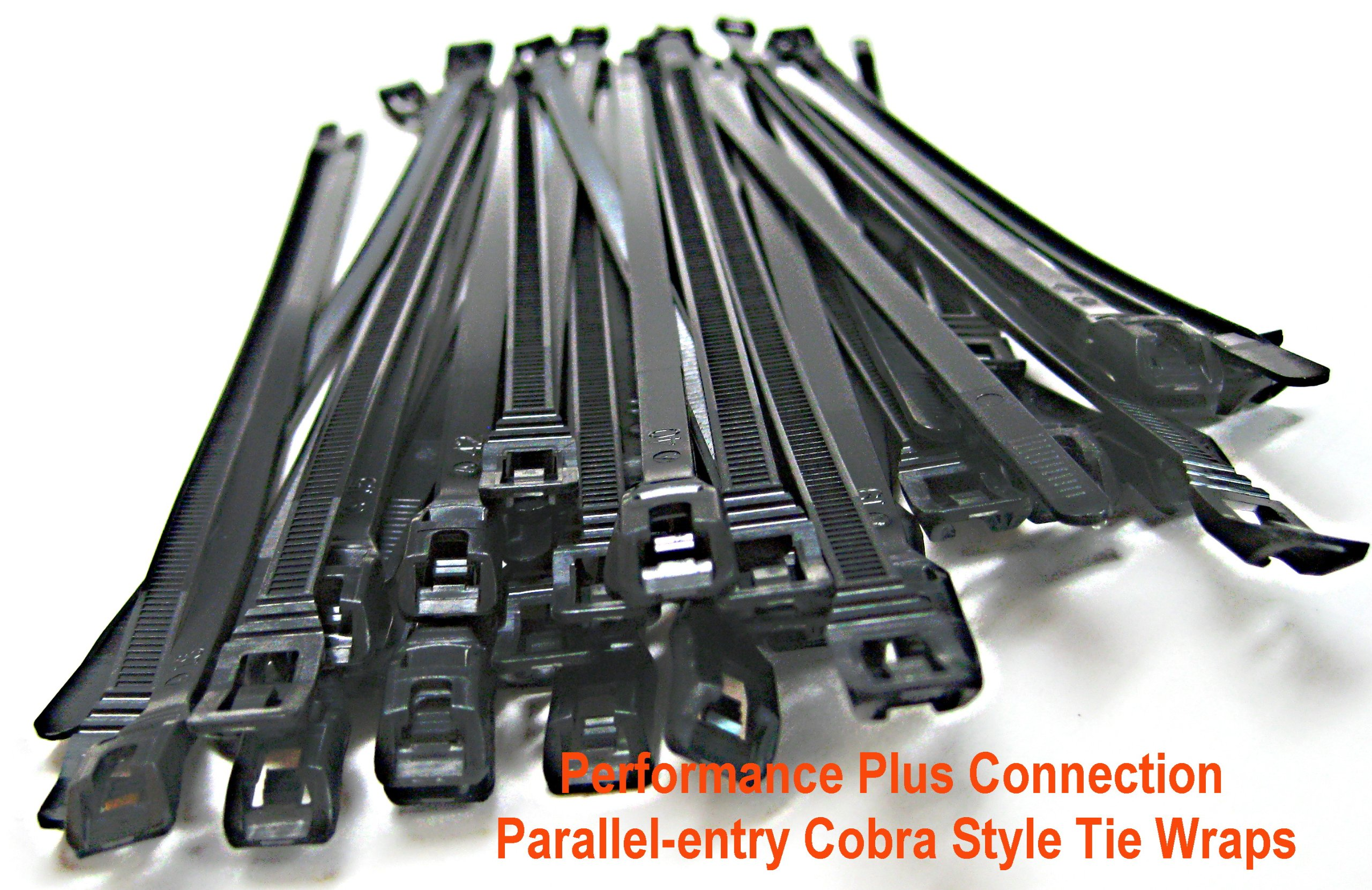 "Nylon Parallel-entry Cobra Style Tie Wraps 7.5"" 50 Pack by Performance Plus Connection"