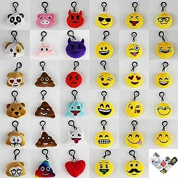 Llavero Emoji, morado, alto, 5 cm, llavero con emoji para ...