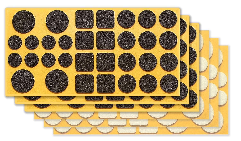 extra r/ésistants /à la pression chaises et tables auto-adh/ésifs 192 pi/èces Clapur Set de patins en feutr Pour meubles Couleur: noir // blanc Patins en feutre aiguillet/é de haute qualit/é