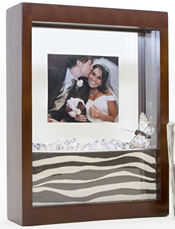 Amazoncom Unity Sand Ceremony Shadow Box Frame Walnut Brown