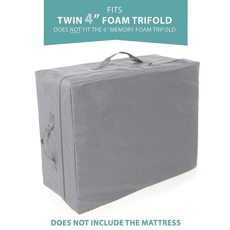 Milliard Tri Folding Mattress | Ultra Soft Washable Cover | Twin {78