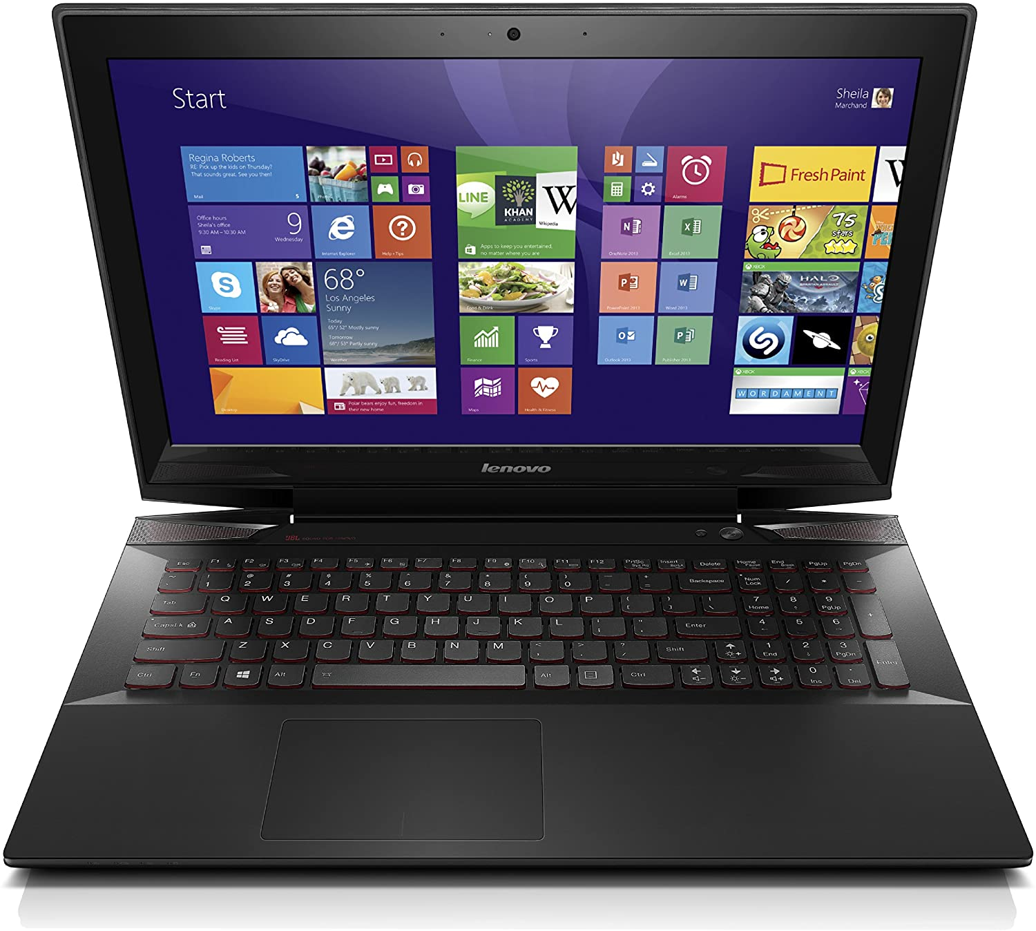 Amazon.com: Lenovo Y50 15.6-Inch Gaming Laptop (59425944) Black ...