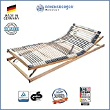 RAVENSBERGER MEDIMED® 44-Leisten 7-Zonen-BUCHE-Lattenrahmen | Verstellbar | MADE IN GERMANY - 10 JAHRE GARANTIE | TÜV/GS + LGA/QS - zertifiziert 140x200 cm