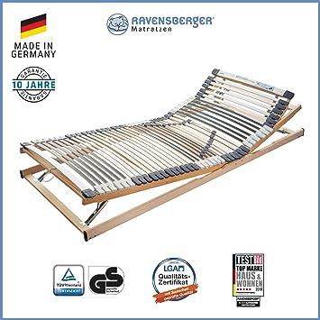 RAVENSBERGER MEDIMED® 44-Leisten 7-Zonen-BUCHE-Lattenrahmen   Verstellbar   MADE IN GERMANY - 10 JAHRE GARANTIE   TÜV/GS + LG