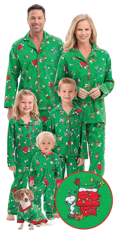 Brushed Cotton Flannel Charlie Brown Matching Christmas Pajamas ...