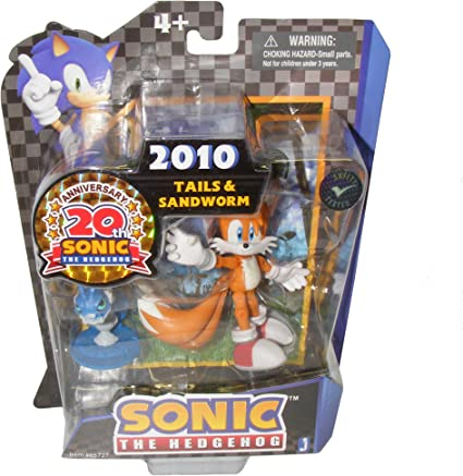 Amazon Com Sonic 20th Anniversary Modern Action Figure Tails Toys Games