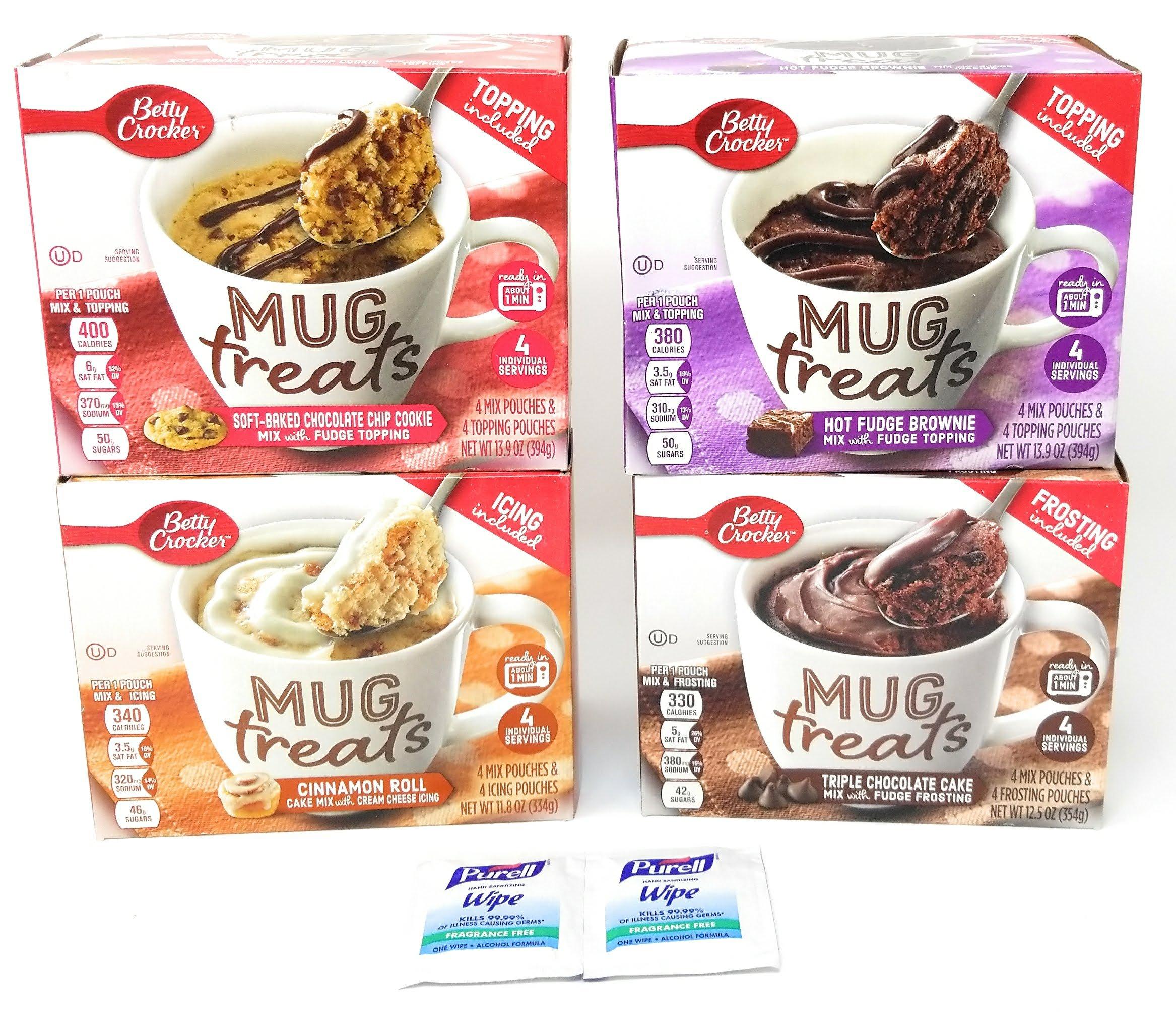 Betty Crocker Mug Treats Muffin & Cake Mixes - Microwave - Pack of 4