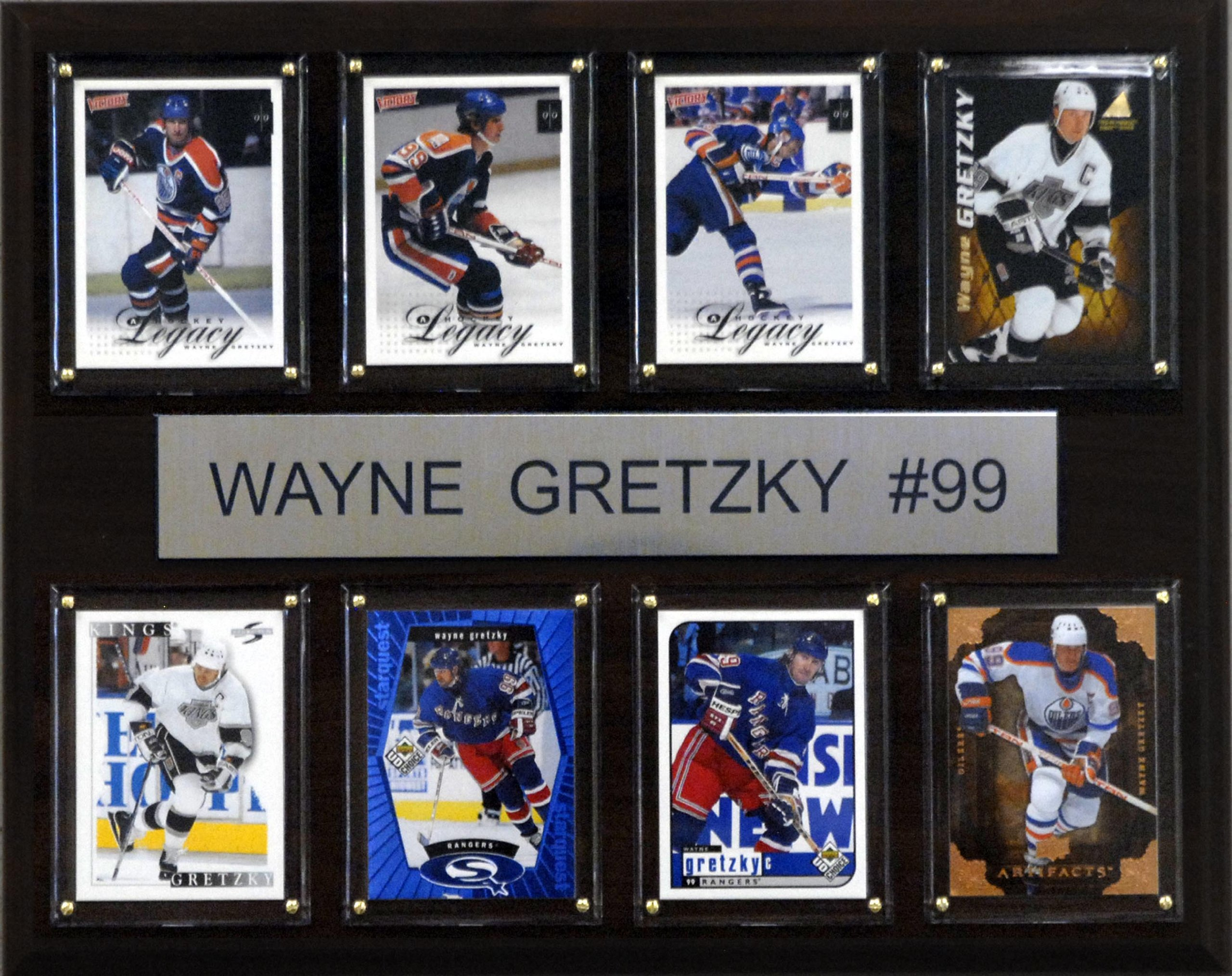NHL Wayne Gretzky Edmonton Oilers 8 Card Plaque by C&I Collectables