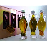 Luxury Infused Extra Virgin Olive Oils Gift Set - rosemary, bay leaf, garlic and peppercorns