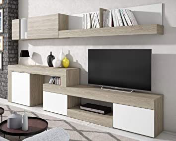 Miroytengo Mueble salón Comedor diseño Moderno Detalle Cristal Color ...