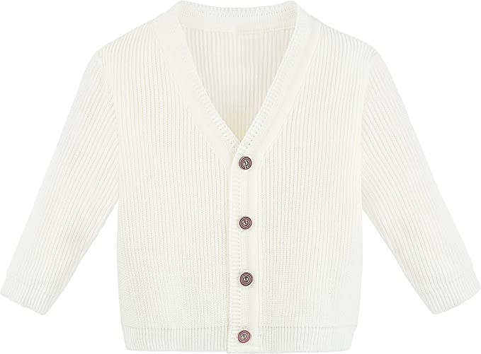 baby to 6 years old Designer V neck buttoned cardigan organic cotton GOTS