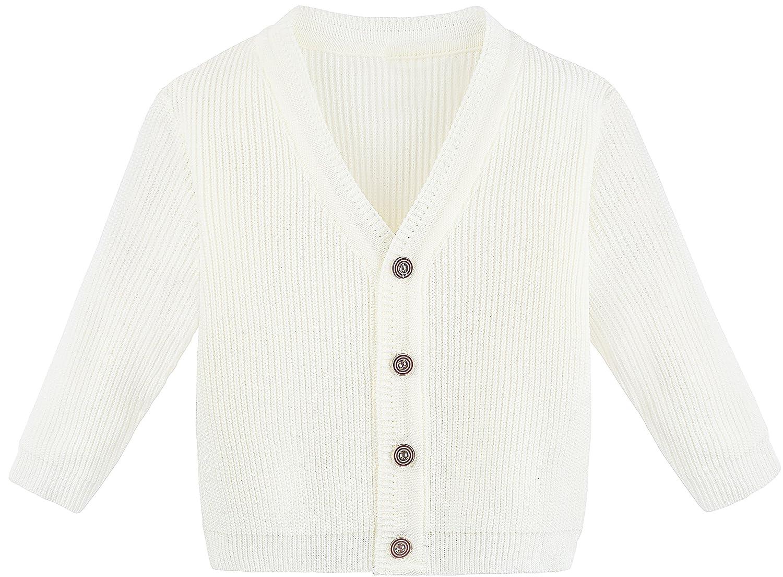 8811f4b7c Amazon.com  Lilax Baby Boys Basic Long Sleeve V-Neck Classic Knit ...