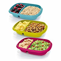 Deals on 3 Pack Rubbermaid TakeAlongs Sandwich Food Storage Containers, 3.7 Cup