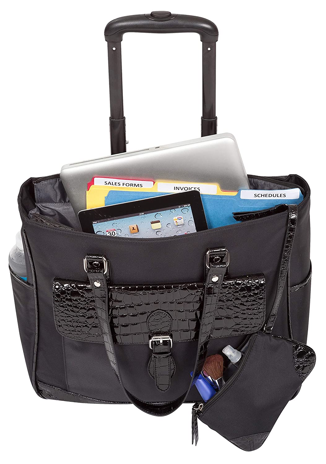 Heritage Travelware Womens Lake View Nylon Twill 2-Wheeled 17 Laptop /& Tablet Business Tote Carry-On Black 830545
