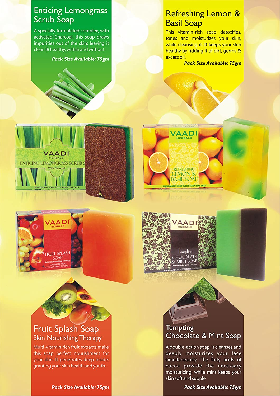Fruit splash classic - Amazon Com Classic Fruit Collection 4 Premium Herbal Handmade Bar Soap In Gift Box Set 4 X 75 Gms 10 6 Ounces Vaadi Herbals Beauty