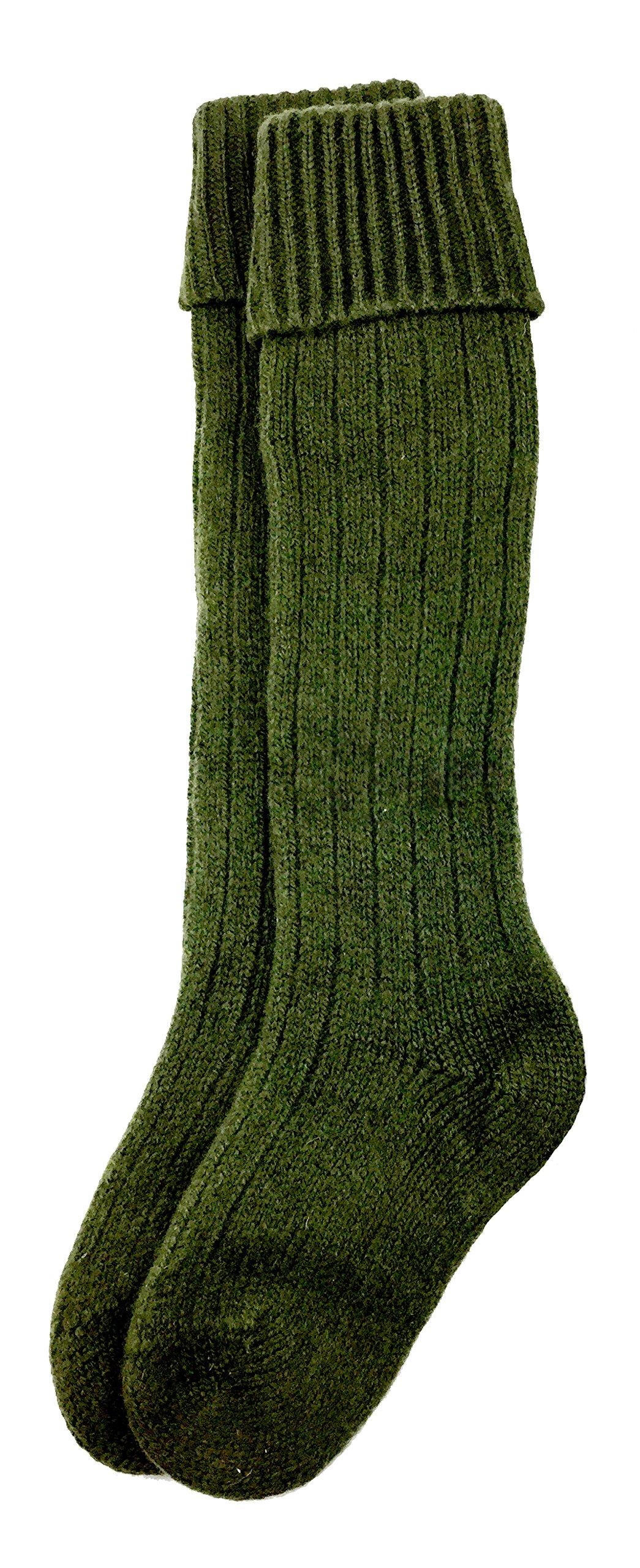 Dachstein Woolwear Over the Knee Austrian Wool Socks (8, Green) by Dachstein Woolwear