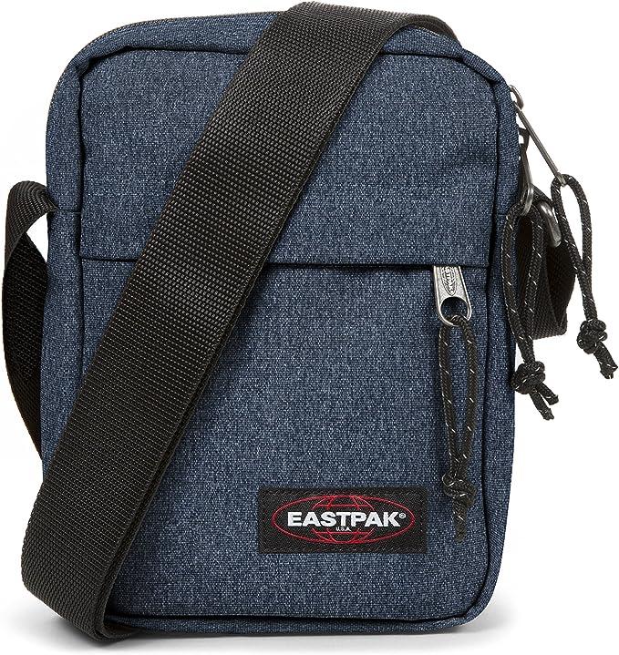 Eastpak The One Sac Bandoulière Mixte Adulte, Bleu (Double Denim) 21 x 16 x 5,5 cm