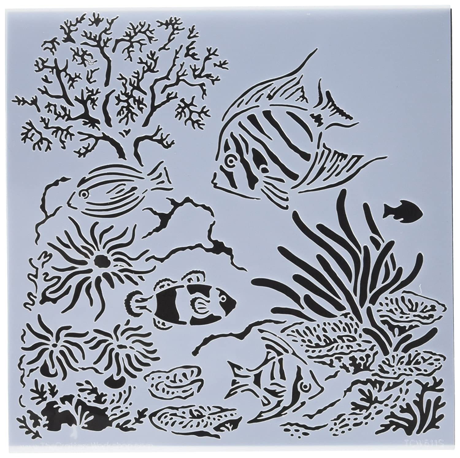 Crafter'S Workshop Template 6-inch x 6-inch Aquarium Crafters Workshop TCW611S