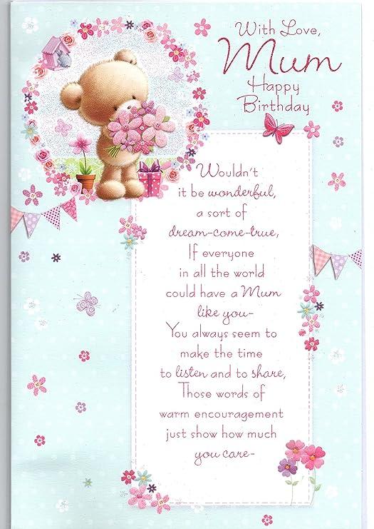 Tarjeta de cumpleaños para mamá, con amor a mamá en tu ...